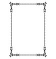 ornamental old frame vector image