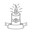 paschal candle sacred icon vector image