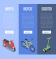 personal transport isometric vertical flyers vector image vector image