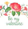 Post card for Valentines day vector image vector image