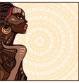 Profile of beautiful African woman vector image vector image