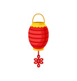 red chinese paper street or house lantern vector image vector image