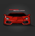 red color sport car on gray vector image vector image