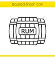 rum wooden barrels linear icon vector image