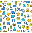Seamless pattern with icons of e-Commerce vector image