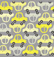 seamless pattern with yellow and gray cars vector image