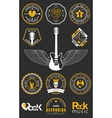 Set Badges of rock music and rock and roll vector image