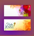 set of festa junina banners vector image