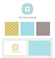 set of graphic design elements and logo design vector image