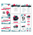set of wedding design concept vector image vector image