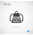 Single Gray Backpack Icon Design vector image