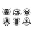 tailor sewing machine button and needle icons vector image vector image