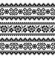 ukrainian or belarusian folk art embroidery patter vector image vector image