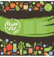 Vegan diet healthy food background vector image vector image