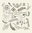 winter christmas sketch concept vector image vector image