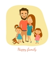 Happy married couple with vector image