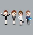 business woman flat design - vector image