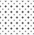 abstract seamless pattern of crosses or plus signs vector image
