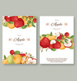 apples fruit collection set posters vector image vector image