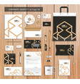 artistic corporate identity template with color vector image