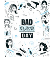 bad hair day vector image vector image