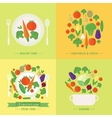 banners card with fresh fruits and vector image vector image