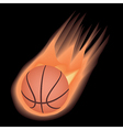basketball-fire vector image vector image