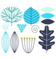 Beautiful colorful autumn leaves set vector image vector image