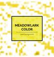 beautiful meadowlark square background vector image