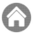 black dot real estate icon vector image