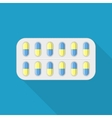 Blister pack of pills vector image vector image