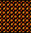 bright maple and oaks leaves seamless pattern vector image