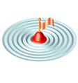 Buoy in sea vector image vector image
