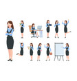 businesswoman characters office professional vector image vector image