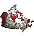 Canadian map grunge mosaic vector image