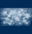 christmas background defocused snowflakes vector image vector image