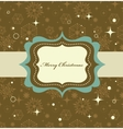 christmas background retro vector image vector image