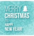Christmas greeting card with the inscription vector image