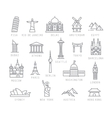 city flat icons vector image
