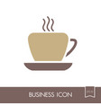 coffee cup outline icon business sign vector image