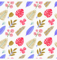 color seamless pattern with green palm leaves vector image vector image
