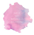 colorful abstract background soft pink watercolor vector image vector image