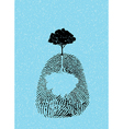 concept of finger tree vector image
