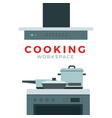 concept workplace for cooking food vector image vector image