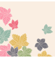 Corner pattern with leaves flying away vector image vector image