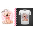 cute puppy - idea for print t-shirt vector image vector image