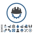 Development Hardhat Flat Rounded Icon With vector image vector image