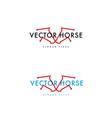 development logo horse vector image vector image