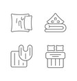 domestic textile linear icons set vector image vector image