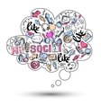 Doodle social media infographics vector image